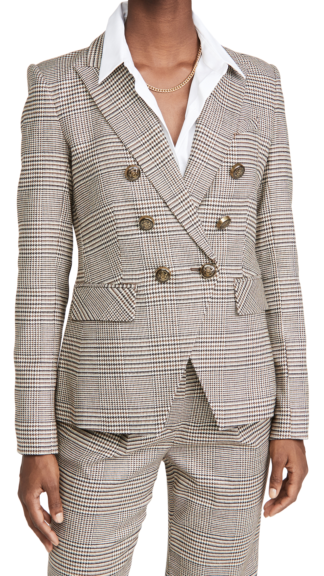 Veronica Beard Miller Dickey Jacket with Elbow Patches