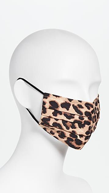 伴您出行 豹纹面罩
