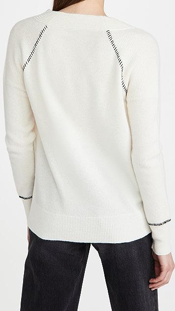 Veronica Beard Preta V Neck Cashmere Sweater