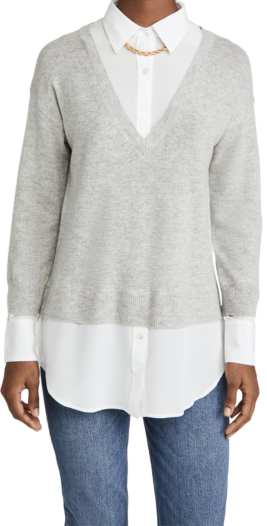 Veronica Beard Brami Mixed Media Sweater