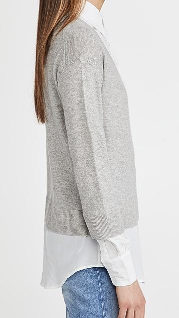 Veronica Beard Brami 混合材质毛衣