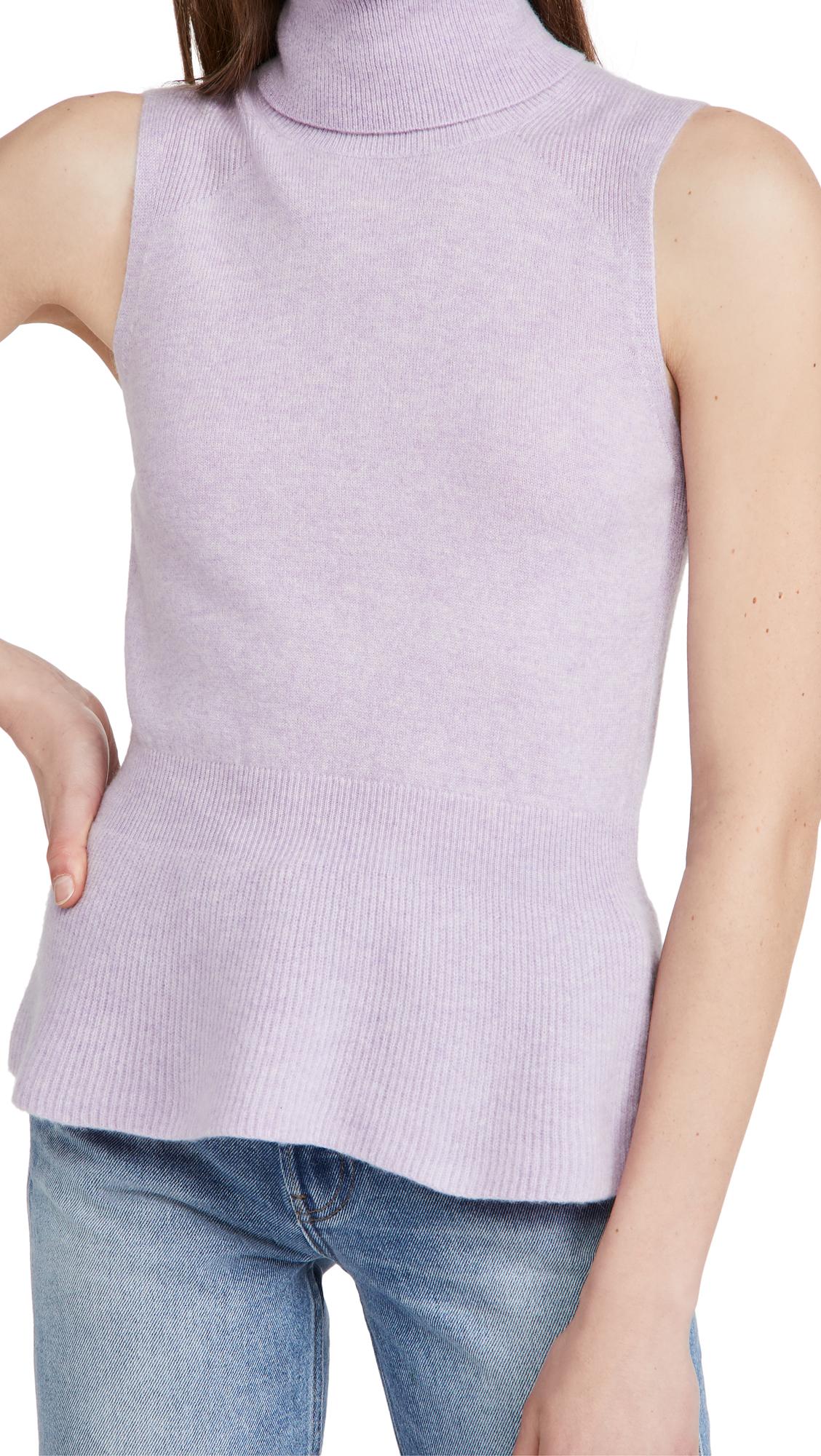 Veronica Beard Noor Sleeveless Turtleneck Cashmere Sweater