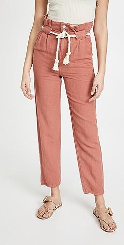 Veronica Beard - Karter Pleated Crop Pants