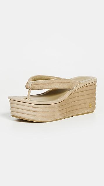 Veronica Beard Geno Platform Thong Sandals