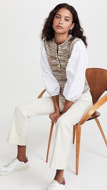 Veronica Beard Tahlea Mixed Media Sweater