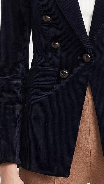 Veronica Beard Gaya Dickey Jacket W/ Elbow Patch