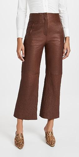 Veronica Beard - Dova Leather Pants