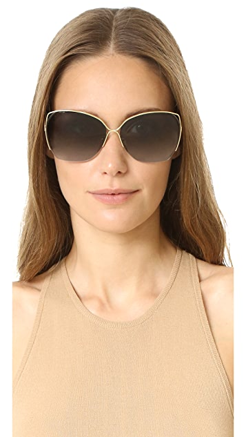Victoria Beckham Fine Wave Sunglasses