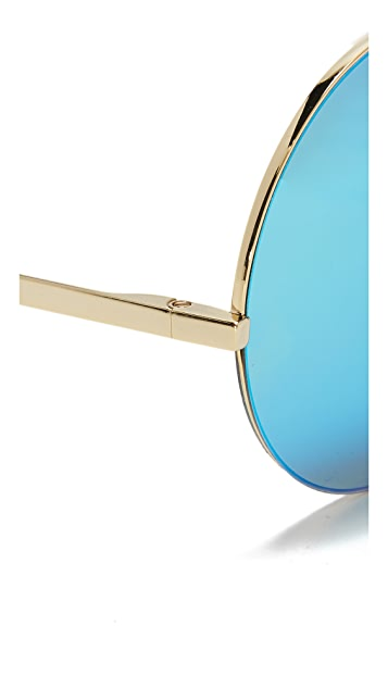 Victoria Beckham Supra Round Sunglasses