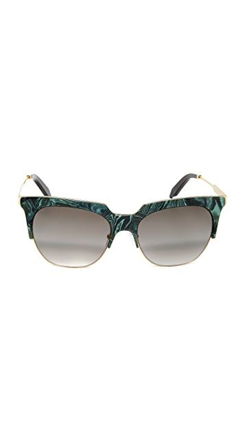 Victoria Beckham Layered Square Sunglasses