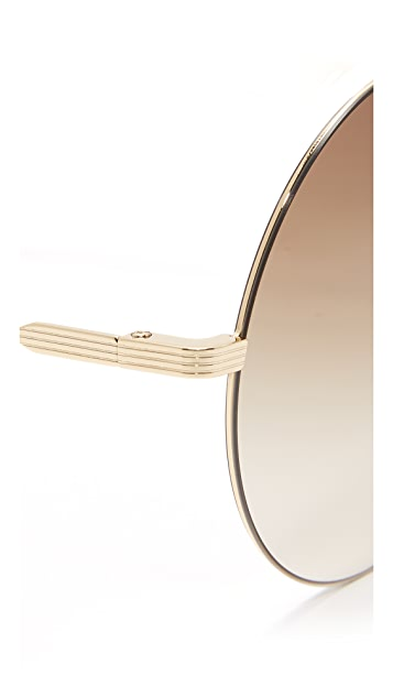 Victoria Beckham Feather Light Round Sunglasses