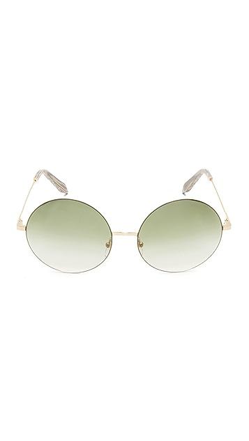 Victoria Beckham Feather Light Round Sunglasses