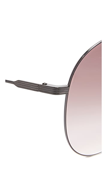 Victoria Beckham Classic Victoria Feather Light Aviator Sunglasses