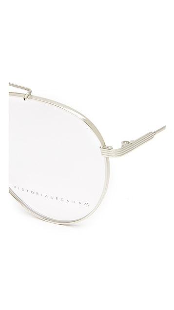 Victoria Beckham Grooved Aviator Glasses