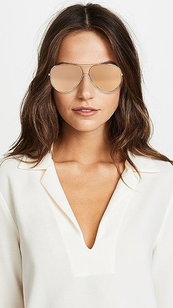 Victoria Beckham 24k Gold Loop Aviator Sunglasses
