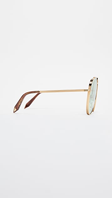 Victoria Beckham Single Bridge Aviator Sunglasses