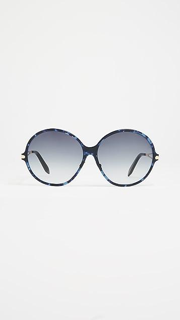 Victoria Beckham Fine Oversized Round Sunglasses