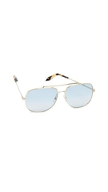 Victoria Beckham Navigation Power Frame Aviator Sunglasses