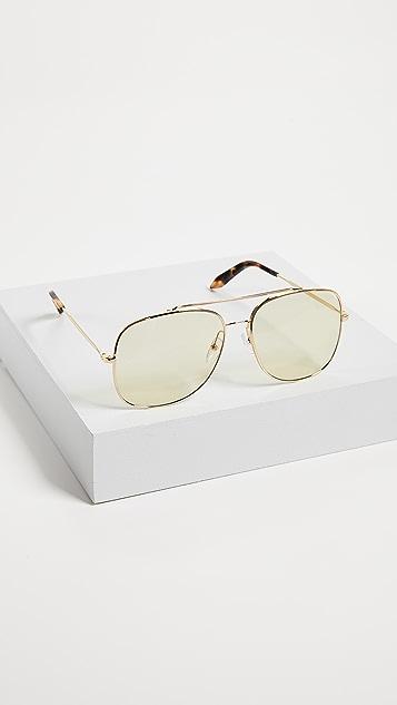 Victoria Beckham Navigation Aviator Sunglasses