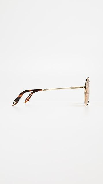 Victoria Beckham Jet Set Aviator Sunglasses