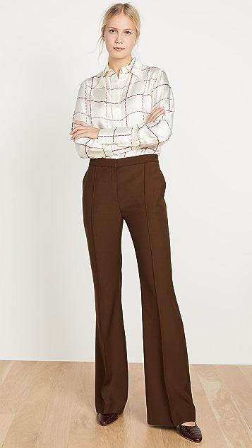 Victoria Beckham 70 年代风格有领衬衫