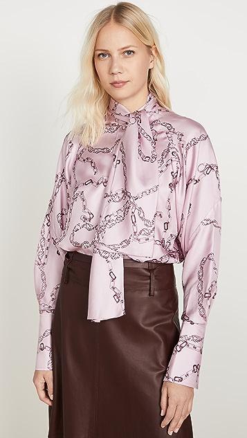 Victoria Beckham 绑带领口连肩女式衬衫