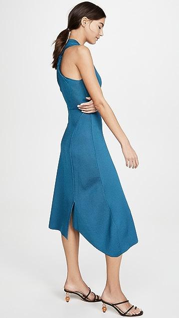 Victoria Beckham 背面扭褶中长连衣裙