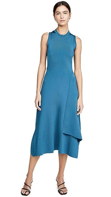 Victoria Beckham Twist Back Midi Dress