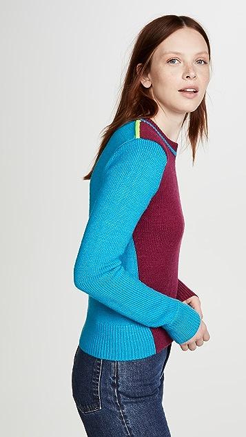 Victoria Beckham 拼色短款圆领针织衫