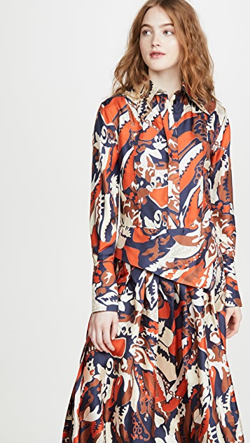 Victoria Beckham Pleated Shirtdress