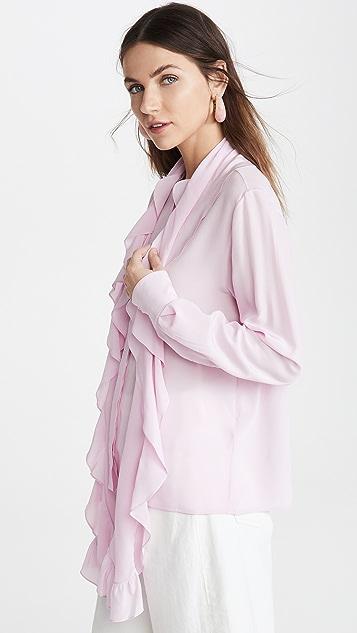 Victoria Beckham 褶边围巾女式衬衫