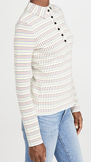 Victoria Beckham Long Sleeve Polo Sweater