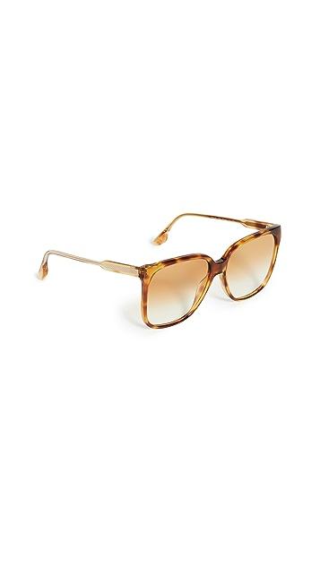Victoria Beckham Guilloche Square Sunglasses
