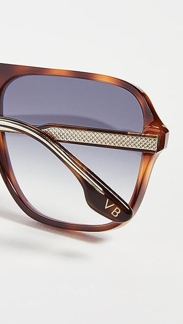 Victoria Beckham Guilloche Shield 太阳镜