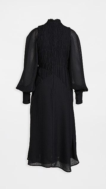 Victoria Beckham 抽褶长袖中长连衣裙