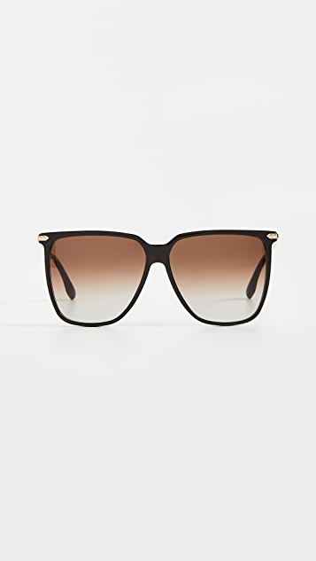 Victoria Beckham V 字形超大方形太阳镜