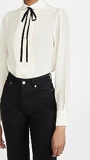 Victoria Beckham Contrast Tie Detail Shirt