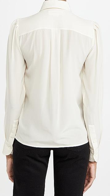 Victoria Beckham 撞色绑带细节衬衣