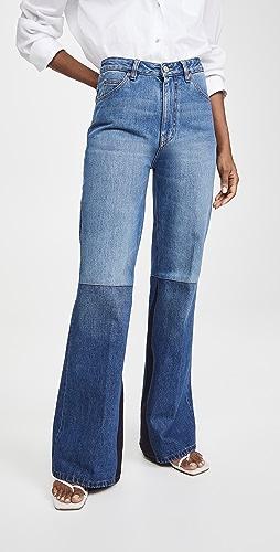 Victoria Beckham - 拼贴喇叭牛仔裤