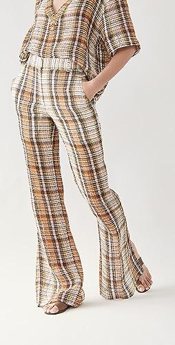 Victoria Beckham - Split Hem Straight Leg Trousers
