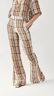 Victoria Beckham Split Hem Straight Leg Trousers