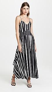 Victoria Beckham 裥褶细节吊带连衣裙