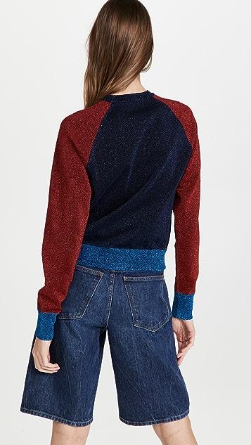Victoria Beckham Colorblock Crew Neck Sweater