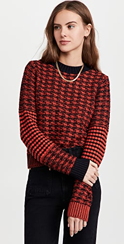Victoria Beckham - 撞色肘部拼贴圆领毛衣