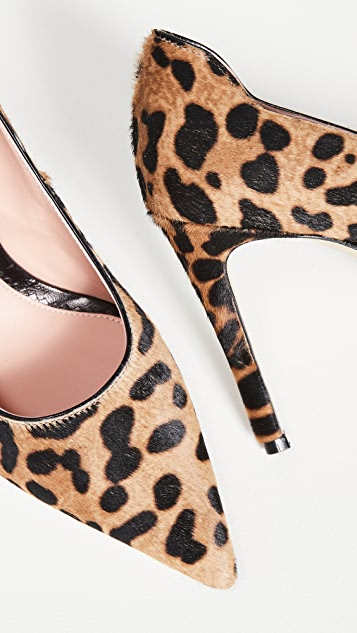 Victoria Beckham VB Leopard Haircalf Pumps