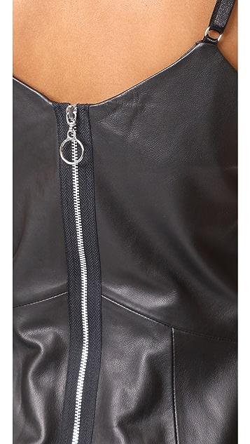 VEDA Leather Slip Dress
