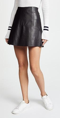 VEDA - Leather Circle Mini Skirt