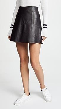 Leather Circle Mini Skirt