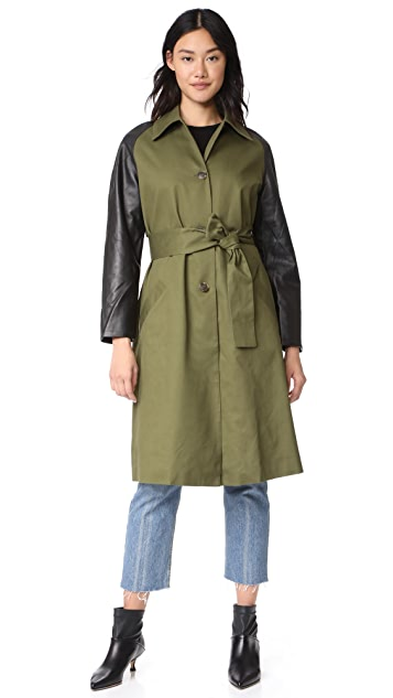VEDA Army Trench Coat