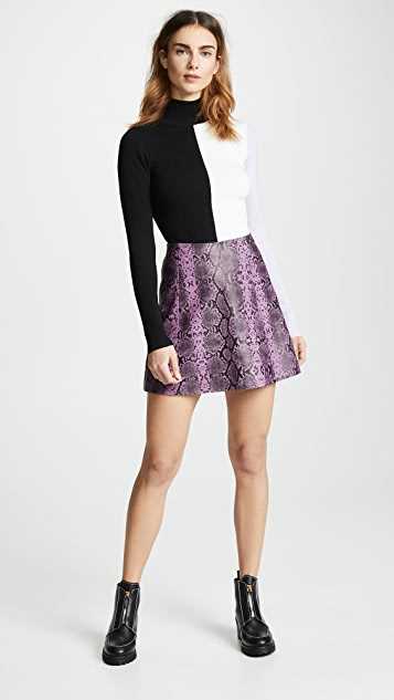 VEDA Leather Circle Skirt